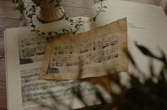Coffee stained music sheet