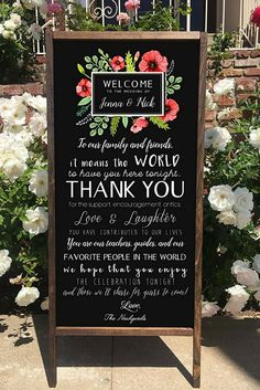 Rustic Wedding Sign - Welcome To Our Wedding Thank You Rustic Wooden Double Sided Sandwich Board