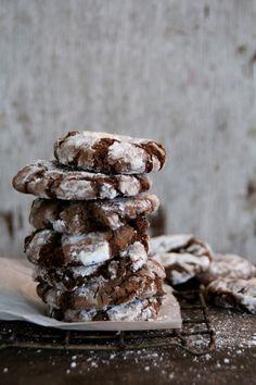 Sjokoladecookies med peppermynte