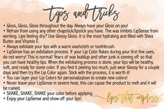 LipSense Tips and Tricks!   https://www.facebook.com/groups/lipsthatimpress/  LipSense Distributor #218518  LipSense is smudgeproof, waterproof, kidproof, and kissproof! Long Lasting Lipstick that lasts 4-18 hours!   LipSense Distributor #218518