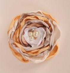 French Vanilla boutique hair clip M2M by McKenzieGraceDesigns, $14.99