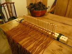 Heart and Soil - Stock Wood Farm: How to Use a Peg Loom