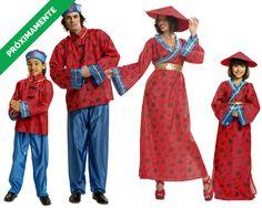 Familia de Chinos #disfraces #carnaval #disfracesparagrupos