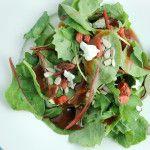 Goji Berry Salad with Raspberry Dressing