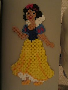 Snow White perler beads by perlerbeadcrafts Hama Beads Design, Hama Beads Patterns, Beading Patterns, Perler Beads, Fuse Beads, Bead Bowl, Pearl Beads Pattern, Perler Bead Disney, Disney Cross Stitch Patterns