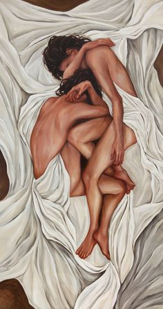 Original Figurative Oil Painting two women by AnnieVeitchFineArt, $3600.00