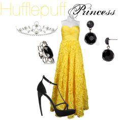 Hufflepuff Princess by nearlysamantha Harry Potter Dress, Deco Harry Potter, Harry Potter Style, Harry Potter Anime, Harry Potter Outfits, Fandom Fashion, Nerd Fashion, Punk Fashion, Lolita Fashion