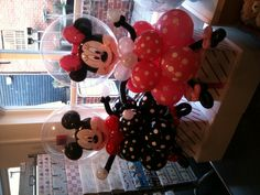 Minnie and mickey mouse balloons