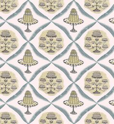 Diana Bloomfield Tea Time fabric. Heal's unveils first fabric collection since 1970s