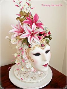 CAKE ART! entirely edible  ~ Tiger Lilies hand made as well is everything else on the amazing cake