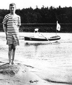 Alexei standing. Apparently Romanov men often swam naked