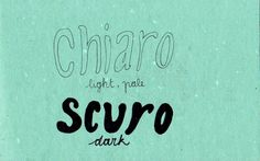 Learning Italian - Chiaro / Scuro