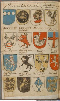 Wappen besonders von deutschen Geschlechtern Süddeutschland ?, 1475 - 1560 Cod.icon. 309  Folio 63v