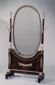 Cheval glass early 19th century French