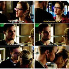 Arrow - Felicity & Oliver #3.11 #Season3 #Olicity <3<3<3