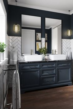 Bathroom decor for your master bathroom renovation. Discover bathroom organization, master bathroom decor a few ideas, master bathroom tile suggestions, bathroom paint colors, and much more. Bad Inspiration, Bathroom Inspiration, Bathroom Renos, Bathroom Renovations, Master Bathrooms, Remodel Bathroom, Bathroom Makeovers, Dream Bathrooms, Dyi Bathroom