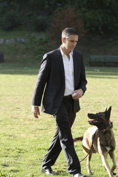 Person of Interest Photos: Reese Plays with Bear on CBS.com