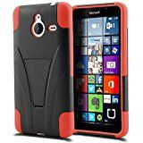 "Microsoft Lumia 640 XL Phone Case, [Storm Buy ] Premium Hard & Soft Sturdy Durable Rugged Shell Hybrid Protective [ Anti Scratch ] Phone Case Cover with Built in Kickstand For Microsoft Lumia 640XL 5.7"" (Red)"
