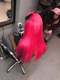 Hair Trends – Hottest Hairstyles We're Obsessed With Baddie Hairstyles, Black Girls Hairstyles, Weave Hairstyles, Straight Hairstyles, Hot Pink Hair, Natural Hair Styles, Long Hair Styles, Hair Laid, Peruvian Hair