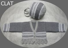 knitted baby set sweater and bonnet by Lanaterapia on Etsy