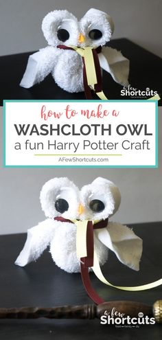 Looking for a fun Harry Potter Craft for a party or movie night? Learn How to Make a Washcloth Owl. So simple and so cute! Looking for a fun Harry Potter Craft for a party or movie night? Learn How to Make a Washcloth Owl. So simple and so cute! Baby Harry Potter, Harry Potter Baby Shower, Harry Potter Enfants, Harry Potter Motto Party, Harry Potter Fiesta, Harry Potter Classroom, Theme Harry Potter, Harry Potter Gifts, Harry Potter Movies