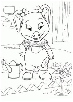 Coloring pages for kids. All your favorite cartoon stars are here ! Coloring Pages For Kids, Coloring Books, Farm Animals, Disney Characters, Fictional Characters, Snoopy, Cartoon, Embroidery, Barn