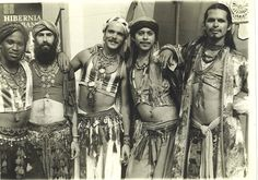 The five original boys of Al Fellahin (The Castro Street Belly Dancers). Castro Street Fair, 1978.  From left:Takim, Najib, Rick, Jamal and Roberto  Photo swiped from Rick Dillenbeck on Bay Area Belly Dance group (Facebook).  It's too good not to share.