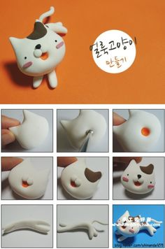 Polymer clay Kitty