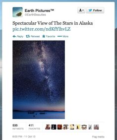 """Spectacular View of The Stars in Alaska"" 