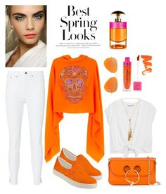 """""""Spring Look by Cashmere Rebel"""" by cashmererebeluk on Polyvore featuring rag & bone, Steve Madden, J.W. Anderson, Alice + Olivia, Ray-Ban, Prada, Jeffree Star, Chloé, H&M and Spring"""
