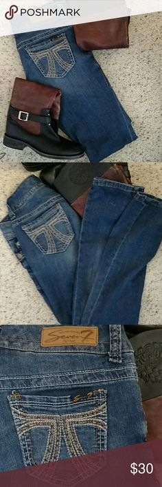 ⭐👢 SEVEN 7 Destroyed Skinny Jeans 👢⭐ Excellent Condition, Like New, No Flaws Or Stains. This Pair Of SEVEN 7 Destroyed Skinny Jeans Will Look Super Cute With A Pair Of High Boots Or Uggs. Stay Fashionable This Winter With This Awesome Pair Of Jeans! 98% Cotton 2% Spandex Fast Shipping! Seven7 Jeans Skinny