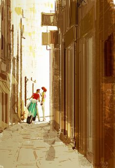 ⌨CIAO, BELLA! by Pascal Campion⌨ #pascalcampion #paintings #artwork