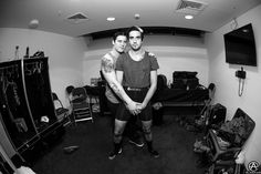 Team work with Zack & Jack of All Time Low on the UK Arena Tour. prints available- http://prints.adamelmakias.com