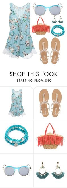 """""""Summer Vibes #3"""" by forgotten-unicorn ❤ liked on Polyvore featuring Cosabella, Head Over Heels by Dune, Anzie, Sun N' Sand, Diane Von Furstenberg and Atelier Mon"""