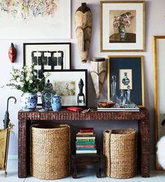 COLORES NATURALES  Los interiores boho destacan por la mezcla de color pero sobre todo encontramos tonos azules, verdes, dorados y blancos. Son colores luminosos muy relacionados con la naturaleza. Ideas para decorar la pared | Ventas en Westwing