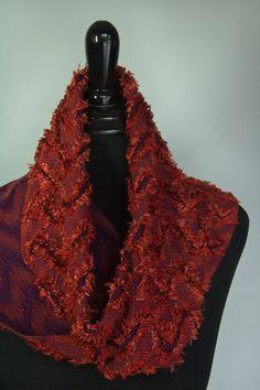 Handwoven Rust & Dark Purple Unique  by BSchoriHandwovens on Etsy, $115.00