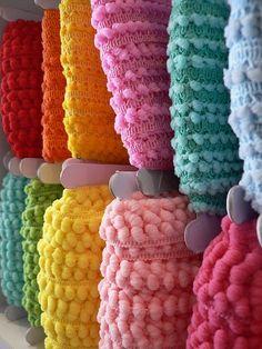 so many cute ideas w pompom trim | More here: http://mylusciouslife.com/pinterest-stripes-polka-dots-and-pom-poms/