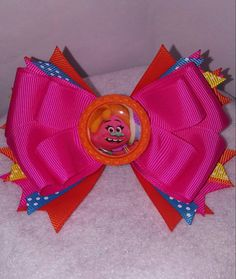 Check out this item in my Etsy shop https://www.etsy.com/listing/485320619/dj-suki-boutique-style-hair-bow-trolls