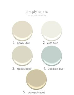 Benjamin Moore Paint :: 2015 Soft Seaside Palette For A Coastal Home !  Beach Painting Scheme
