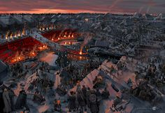"""ArtStation - Gorodishche, the concepts for the movie """"He is dragon."""", Valeriy Zrazhevskiy"""