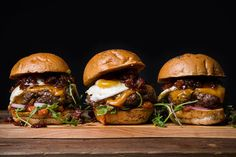 A grilled beef burger topped with an addictive bacon jam, sharp cheddar, fried egg and roasted tomato ketchup - it will change your life as you know it.
