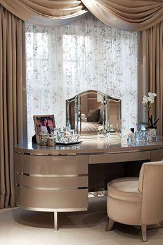 Luxury dressing table for bedroom design luxury homes, bedroom ideas, luxury de Modern Room Decor, Elegant Home Decor, Elegant Homes, Cheap Home Decor, Bedroom Decor, Bedroom Ideas, Luxury Home Decor, Luxury Homes, Casa Pop