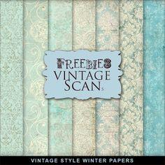 Freebies Vintage Style Winter Paper
