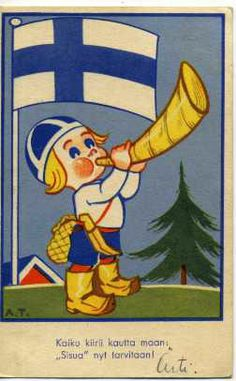 12.5.2015 Hyvää Suomalaisuuden päivää! - Eeli Jaatinen (Finnish, 1905–1970) - It's one of the flag days today (12 May 2015) in Finland. We celebrate The Finnish culture and J.V. Snellman's Day. Finland Culture, Finnish Language, Scandinavian Countries, My Heritage, Helsinki, Independence Day, Vintage Posters, Album Covers, Norway