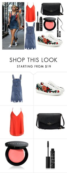 """""""steal taylor's style (8th aug 2016)"""" by kara-anyea ❤ liked on Polyvore featuring Gucci, Sans Souci, Bobbi Brown Cosmetics, NARS Cosmetics, Kat Von D, taylorswift, Stealherstyle, swiftie and Tay"""