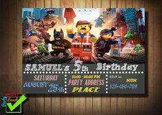LEGO the movie birthday invitation