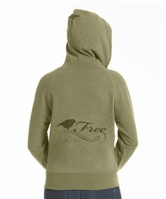 Take a look at this Olive 'Free' Bird Fitted Fleece Zip-Up Hoodie on zulily today!