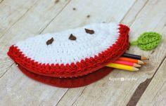 Download Apple Pouch Crochet Pattern (FREE)