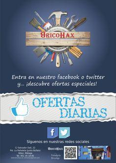 ¿Has visto la oferta del día en Bricohax Velez Malaga? Conócelas TODOS LOS DÍAS desde sus redes sociales en Facebook y Twitter