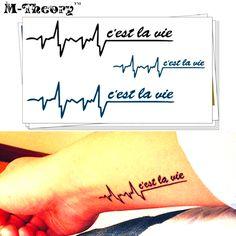 M-Theory Temporary Tattoos Body Art Tattoo Stickers Heartbeat Feeling Flash Tatoos Sticker Henna Swimsuit Bikini Makeup Cute Tattoos, Body Art Tattoos, Sleeve Tattoos, Tatoos, Flash Tattoos, Henna Body Art, Tattoo Kits, Tattoo Machine, Dress Makeup